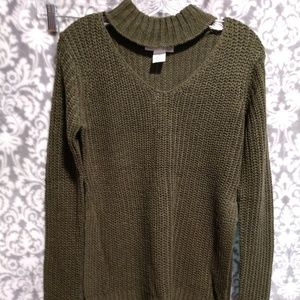 Planet Gold cut out pullover sweater